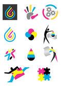 Icons_print_design — Stock Vector
