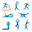 Icons_sport_fitness — Stock Vector