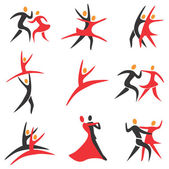 Dance_ballet_icons — Stock Vector