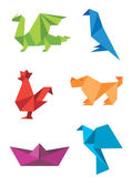 Origami_colorful_icons — Stock Vector