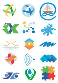 Company_icons_ logos — Stock Vector