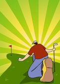 Golfista — Vector de stock