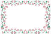 Pink_flower_frame — Stock Vector