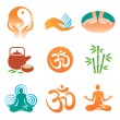 Royalty-Free Stock Vector Image: Massage_spa_yoga_icons