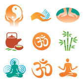 Massage_spa_yoga_icons — Stock Vector