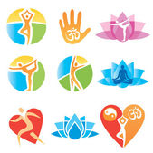 Icons_yoga_fitness — Stockvektor