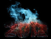 2012 smoke particles next — Stock Photo