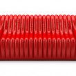 Wave red sofa leather glossy — Stock Photo