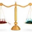 The balance of good and evil — Stock Photo