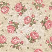 ビンテージのシームレスな花柄 — ストックベクタ