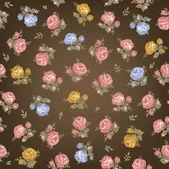 винтаж бесшовный цветочный узор — Cтоковый вектор