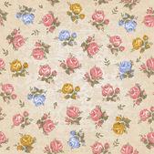 Vintage patrón floral transparente — Vector de stock