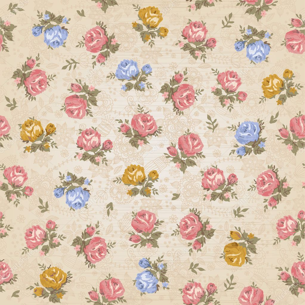 Vintage seamless floral pattern  Stock Vector #10112216