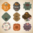 Retro label collection - Imagen vectorial