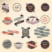 Retro label koleksiyonu — Stok Vektör