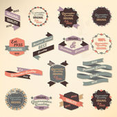 Retro label collection — Stock Vector