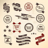 Retro label collection — Vector de stock