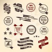 レトロなラベル コレクション — ストックベクタ
