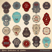 Retro label collection — Stock Vector
