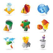 Symbole für die Industrie — Stockvektor