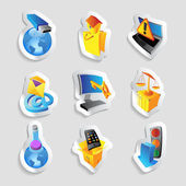 Icons for industry and ecology — Stock Vector