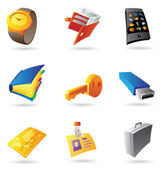 Icons for personal items — Stock Vector