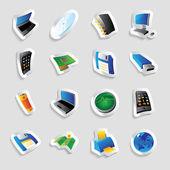 Sanayi ve teknoloji için simgeler — Stok Vektör