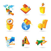 Icons for industry — Stock Vector