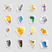 Icons for industry and technology — Stock Vector