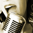 Retro Singer — Stock Photo #9207846