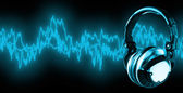Listen To Music (+clipping path, XXL) — Stock Photo
