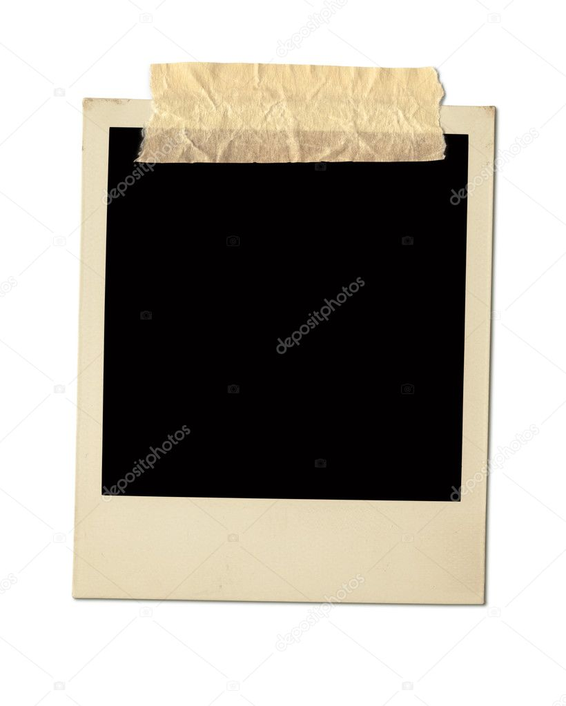 Old Polaroid Frame Isolated On White — Stock Photo #9208160