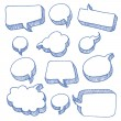 Speech And Thought Bubbles — Stock Vector #9205131