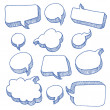 Stock Vector: Speech And Thought Bubbles