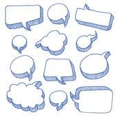 言語と思考の泡 — ストックベクタ