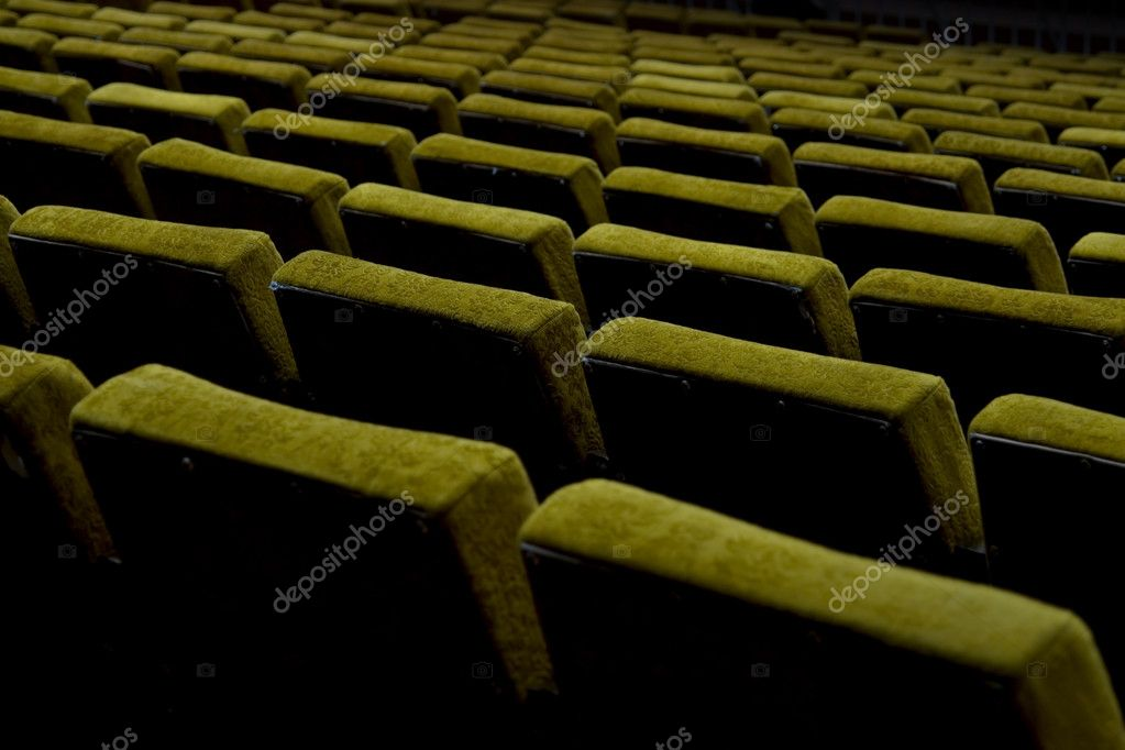 Late Seance (Empty Chairs At Cinema/Auditorium)  Stock Photo #9447798