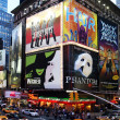 Stock Photo: Broadway show advertisements