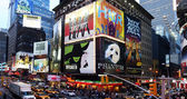 Broadway show advertisements — Stock Photo