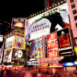 Broadway at Times Square by Night - ストック写真