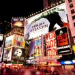 Broadway at Times Square by Night - Stock Photo