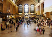 Grand Central train station ticket hall — 图库照片