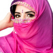 Stock Photo: Indian Hindu woman with headscarf