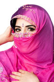 Indian Hindu woman with headscarf — Stock Photo