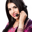 Happy Indian Customer Service Representative — Stock Photo