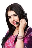 Happy Indian Customer Service Representative — Stock Photo