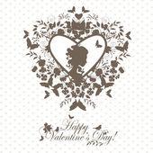 Valentine postcard — Stock Vector