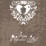 Vintage valentine postcard — Stock Vector #8200765