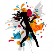dancing girl — Stock Vector