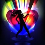 Dancing girl 2 — Stock Vector