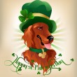 Stock Vector: Irish Setter